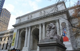 Schwarzman Building, Central Branch, New York Public Library, lion statue, Central Building, Main Branch