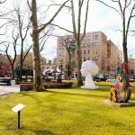 pratt campus, pratt institure, pratt sculpture garden, pratt institute garden
