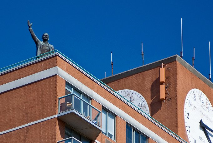 lower east side NYC Lenin Statue