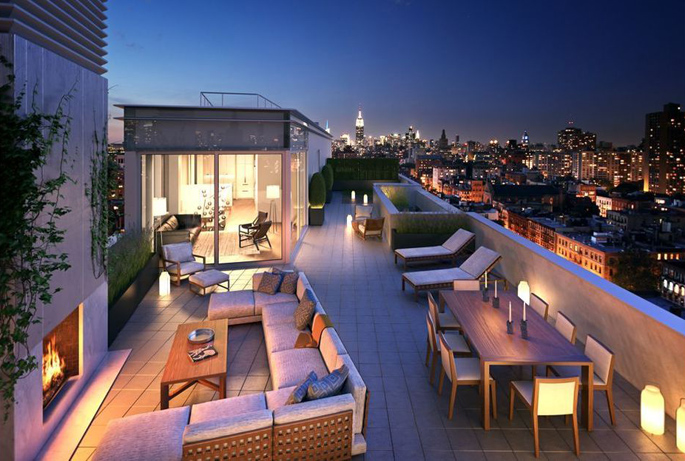 One Vandam Street penthouse terrace