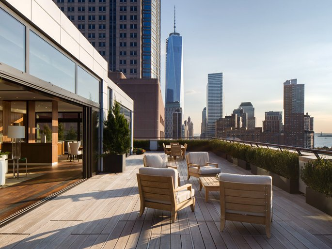 250 West Street penthouse, roof terrace