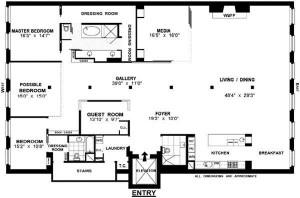 30 Crosby Street, 3B Floorplan