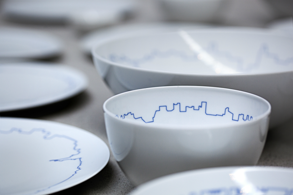 Danish Designers BIG and KILO Create Tableware Outlined with City Skylines & Danish Designers BIG and KILO Create Tableware Outlined with City ...