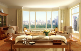 15 Central Park West living room