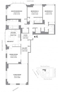 15 Central Park West floor plan