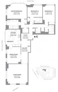 15 Central Park West floor plan