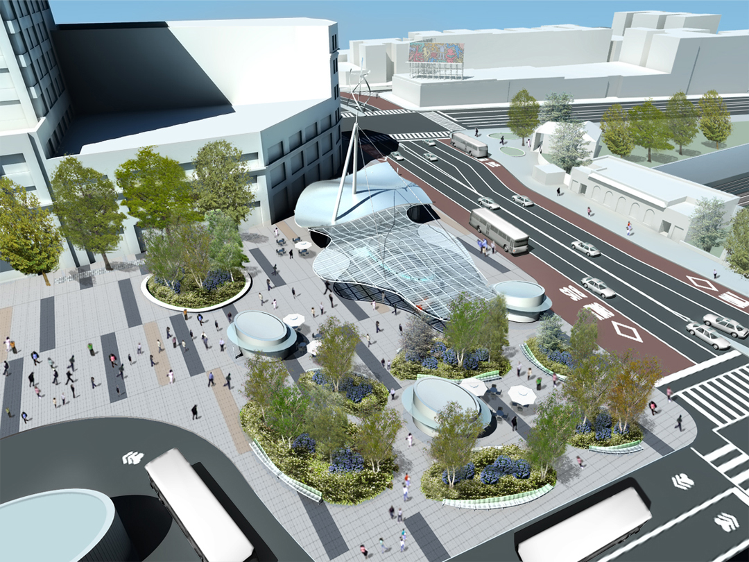 A rendering of the plans for Fordham Plaza.