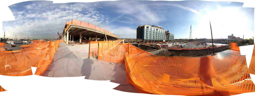 A panorama of the New York Police Academy currently in construction.