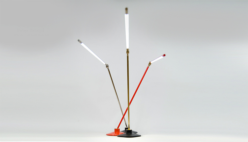 Thin LED Desk Lamp designed by Peter Bristol and Juniper Design