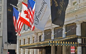 flags at the plaza hotel