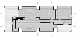 Layout of Tsai residence designed by HHF Architects and Ai Weiwei