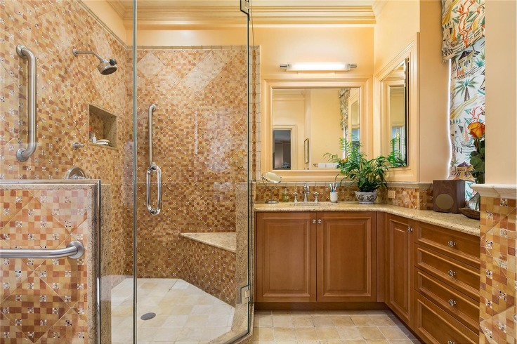 Beautifully renovated master bathroom