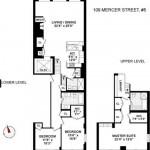 The floor plan of Derek Lam's recently sold loft.