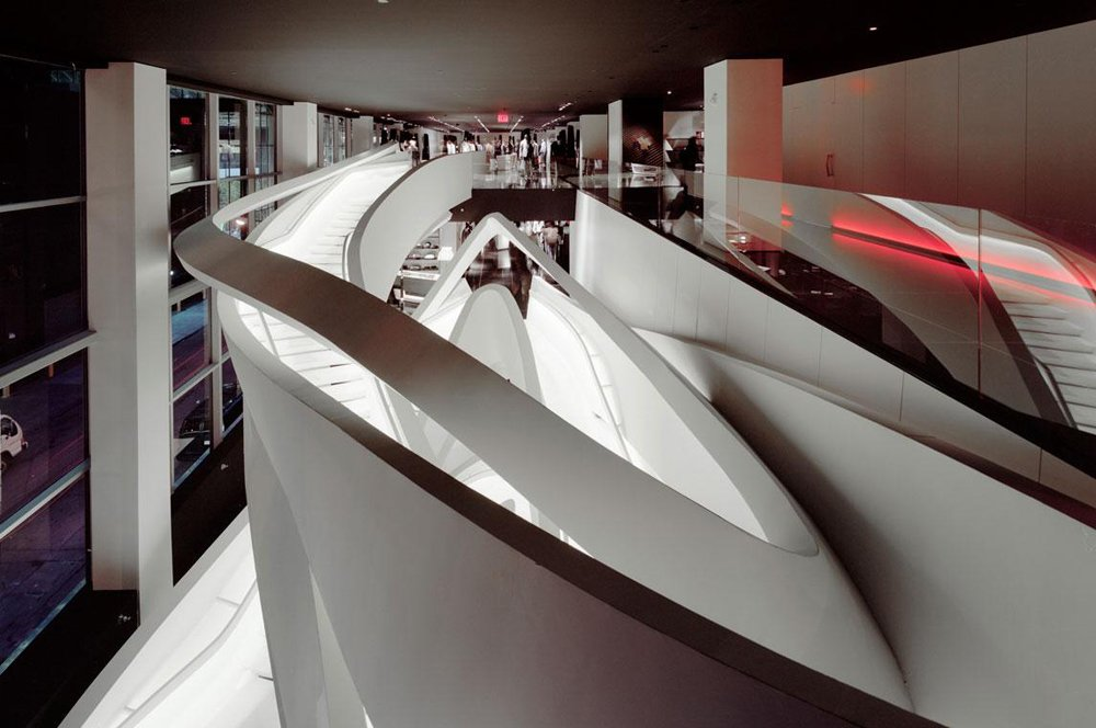 Fuksas Staircase Armani Fifth Avenue