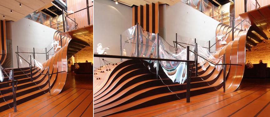 heatherwick longchamp staircase