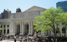 New York public library, bryant park