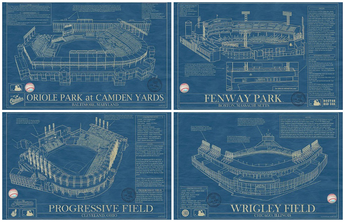Ballpark Blueprints Are A Homerun For Baseball Fans 6sqft