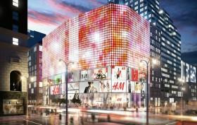 Herald Square, Herald Square H&M, LED billboards