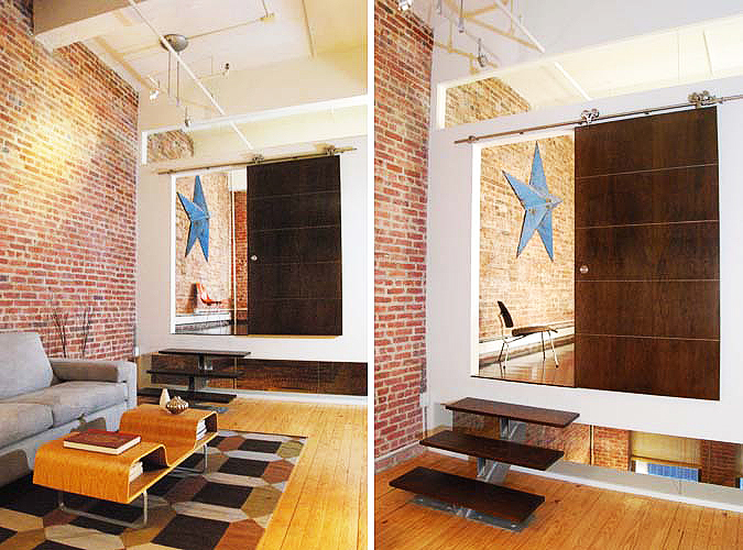 Floating Loft in Brooklyn designed by Barker Freeman