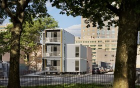Garrison Architects, modular prototype, post-disaster housing, displaced residents, AMSS
