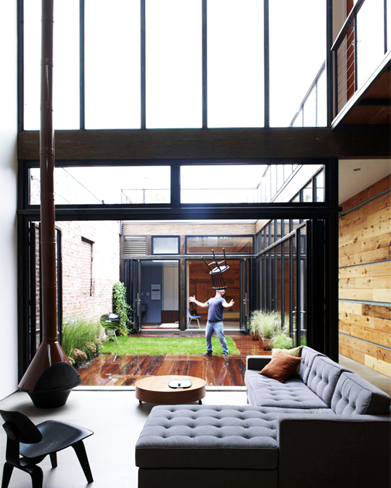 Atrium House Brooklyn Mesh Architects