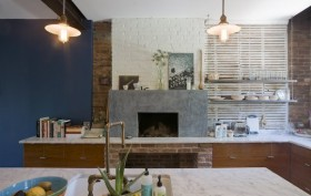 brownstone interior, clinton hill, interior designs, classic american architecture, fireplace, lamps