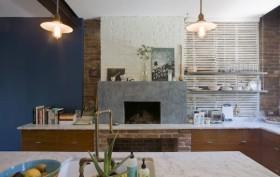 brownstone interior, clinton hill, interior designs, classic american architecture, fireplace, lamps