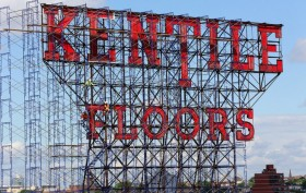 Kentile Floors sign