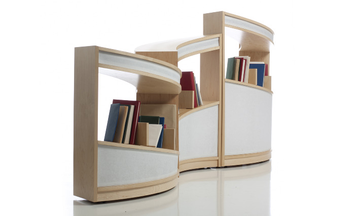 Nautilus bookshelf designed by Alicia Bastian