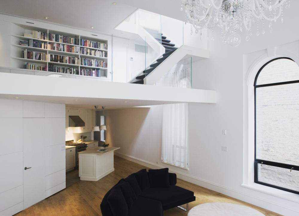 Studio Apartment Architecture this lofty east village penthouse is housed in a former synagogue