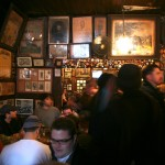 The busy interior of the McSorley's historic bar.