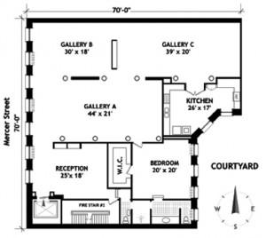 84 Mercer Street, 4E floorplan