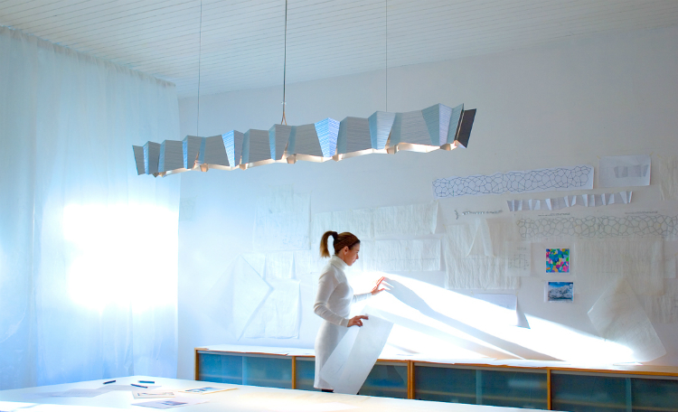 Helikon light, part of Linear Suspension series designed by David D'Imperio