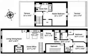 47 Murray Street, PH floorplan