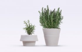 Emanuele Pizzolorusso, Fold Pot, flower pots, gardening, planting, indoor plants