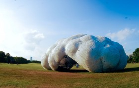 figment bottle cloud governor's island, figment, Head in the Clouds Pavilion by StudioKCA