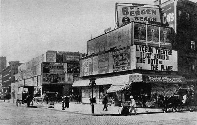 19th century times square, times square 1880s, early times square, historic photos of times square