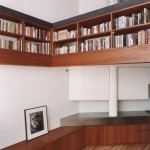 Specht Harpman, Eiche Residence, East Village modern design, interior design with straight lines, built-in shelving