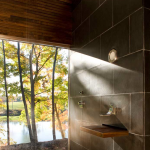 Cooper Joseph Studio, Writer's Studio, Ghent New York, writer's retreat, modern upstate cabins, walnut sink