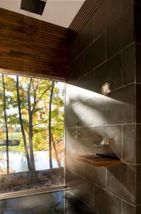 Cooper Joseph Studio, Writer's Studio, Ghent New York, writer's retreat, modern upstate cabins, walnut sink
