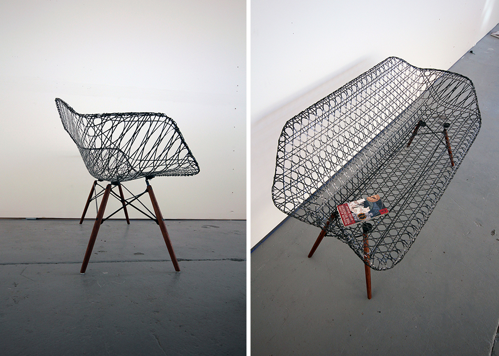 Matthew Strong, Carbon Fiber Eames Sofa, Charles And Ray Eames, Molded  Fiberglass Chairs
