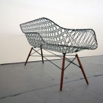 Matthew Strong, Carbon Fiber Eames Sofa, Charles and Ray Eames, Molded Fiberglass Chairs, carbon fiber, light modern sofa,