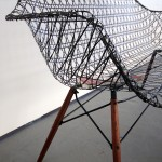 Matthew Strong, Carbon Fiber Eames Sofa, Charles and Ray Eames, Molded Fiberglass Chairs, carbon fiber, light modern sofa,
