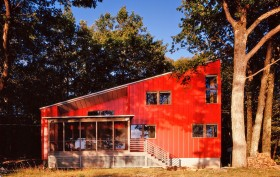 Ryall Porter Sheridan Architects, Red House, Upstate New York architecture, geometric architectural design, upstate retreats