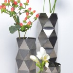 stainless steel vases, Convert Vase Collection, Another Studio, architectural vases, designs influenced by architectural geometry, London design firms