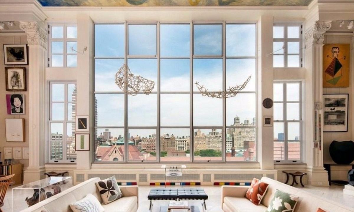 44 West 77th Street, Upper West Side real estate, 44 West 77th Street PH13, best living room ever