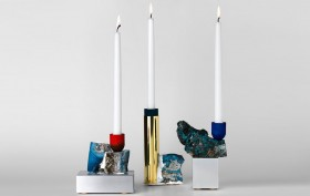 David Taylor, Slag candlesticks, found materials, Swedish design, abandoned iron foundry, upcycled materials, Superdave