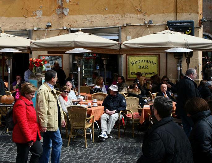 walking in rome