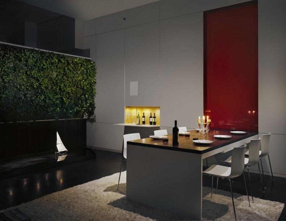 7th street residence pulltab design interior green walls custom panel systems green