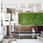 7th Street Residence, Pulltab Design, interior green walls, green interior design